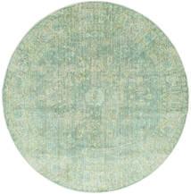 Maharani - Grön Matta Ø 200 Modern Rund Pastellgrön ( Turkiet)