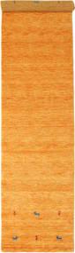 Gabbeh Loom Two Lines - Orange Matta 80X350 Modern Hallmatta Orange/Ljusbrun (Ull, Indien)