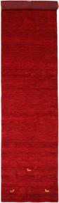 Gabbeh Loom Two Lines - Röd Matta 80X350 Modern Hallmatta Röd/Mörkröd (Ull, Indien)