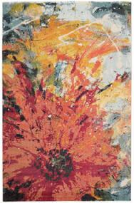 Flora Matta 200X300 Modern Röd/Beige ( Turkiet)