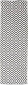 Torun - Grå/Neutral Matta 80X300 Äkta Modern Handvävd Hallmatta Ljusgrå/Ljuslila (Bomull, Indien)