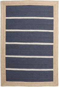 Utomhusmatta Frida Stripe - Blå Matta 200X300 Äkta Modern Handvävd Blå/Beige/Mörkblå (Jutematta Indien)