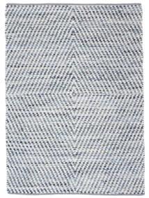 Hilda - Denim/Vit Matta 140X200 Äkta Modern Handvävd Beige/Ljusblå (Bomull, Indien)