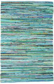 Ronja - Grön Mix Matta 170X240 Äkta Modern Handvävd Turkosblå/Ljusblå (Bomull, Indien)