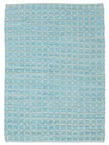 Elna - Bright_Blue Matta 200X300 Äkta Modern Handvävd Ljusblå/Turkosblå (Bomull, Indien)