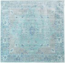 Maharani - Blå Matta 200X200 Modern Kvadratisk Ljusblå/Turkosblå ( Turkiet)