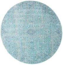 Maharani - Blå Matta Ø 150 Modern Rund Ljusblå/Turkosblå ( Turkiet)