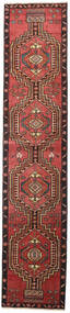 Ardebil Patina Matta 81X385 Äkta Orientalisk Handknuten Hallmatta Mörkröd/Svart (Ull, Persien/Iran)
