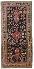 Ardebil Patina Matta 133X284 Äkta Orientalisk Handknuten Hallmatta Mörkbrun/Mörkröd (Ull, Persien/Iran)