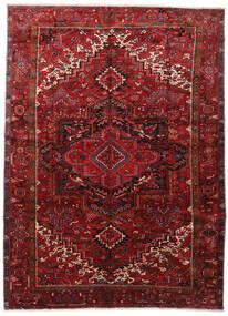 Heriz Matta 295X403 Äkta Orientalisk Handknuten Mörkröd/Mörkbrun Stor (Ull, Persien/Iran)