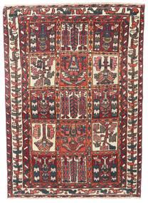 Bakhtiar Patina Matta 110X152 Äkta Orientalisk Handknuten Mörkröd/Mörkbrun (Ull, Persien/Iran)