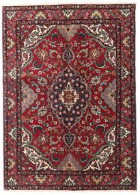Tabriz Matta 135X190 Äkta Orientalisk Handknuten Mörkröd/Svart (Ull, Persien/Iran)