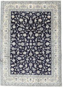 Nain Matta 245X340 Äkta Orientalisk Handknuten Ljusgrå/Mörklila (Ull, Persien/Iran)