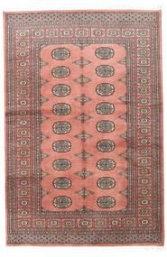 Pakistan Bokhara 2Ply Matta 123X183 Äkta Orientalisk Handknuten Ljusrosa/Mörkröd (Ull, Pakistan)