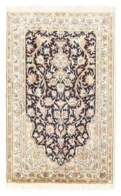 Kashmir Äkta Silke Matta 65X101 Äkta Orientalisk Handknuten Beige/Ljusgrå (Silke, Indien)