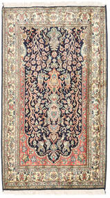 Kashmir Äkta Silke Matta 83X126 Äkta Orientalisk Handknuten Beige/Mörklila (Silke, Indien)