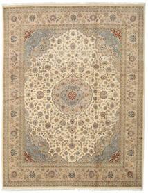Tabriz Royal Matta 242X312 Äkta Orientalisk Handknuten Ljusbrun/Beige/Mörkbeige ( Indien)