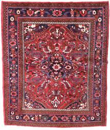 Zanjan Matta 155X221 Äkta Orientalisk Handknuten Mörkröd (Ull, Persien/Iran)