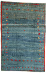 Gabbeh Rustic Matta 184X284 Äkta Modern Handknuten Turkosblå/Blå (Ull, Persien/Iran)