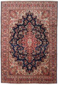 Moud Matta 248X360 Äkta Orientalisk Handknuten Mörkröd/Svart (Ull/Silke, Persien/Iran)