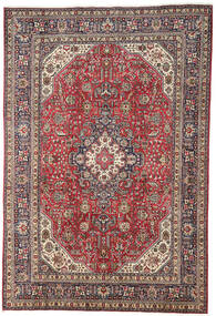 Tabriz Matta 196X298 Äkta Orientalisk Handknuten Mörkröd/Ljusgrå (Ull, Persien/Iran)