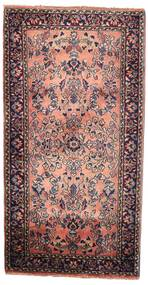 Sarough Matta 58X112 Äkta Orientalisk Handknuten Mörkbrun (Ull, Persien/Iran)