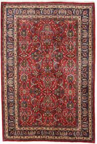 Mashad Matta 196X292 Äkta Orientalisk Handknuten Mörkröd/Mörkbrun (Ull, Persien/Iran)