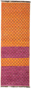 Moroccan Berber - Afganistan Matta 87X271 Äkta Modern Handknuten Hallmatta Orange/Mörkröd (Ull, Afghanistan)