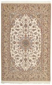 Isfahan Silkesvarp Matta 155X242 Äkta Orientalisk Handvävd Beige/Ljusgrå (Ull/Silke, Persien/Iran)