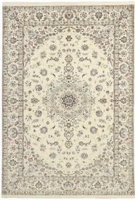 Nain 6La Matta 151X230 Äkta Orientalisk Handvävd Beige/Ljusgrå (Ull/Silke, Persien/Iran)
