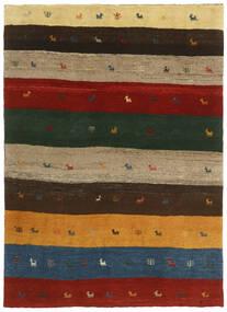 Gabbeh Persisk Matta 123X176 Äkta Modern Handknuten Mörkgrön/Röd (Ull, Persien/Iran)
