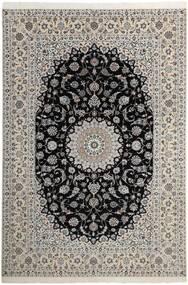 Nain 6La Matta 210X311 Äkta Orientalisk Handknuten Ljusgrå/Mörkgrå (Ull/Silke, Persien/Iran)