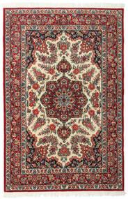 Ghom Kork/Silke Matta 117X179 Äkta Orientalisk Handknuten Mörkröd/Mörkbrun (Ull/Silke, Persien/Iran)