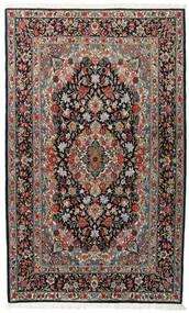 Ghom Kork/Silke Matta 120X198 Äkta Orientalisk Handknuten Svart/Mörkgrå (Ull/Silke, Persien/Iran)