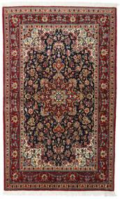 Ghom Kork/Silke Matta 118X194 Äkta Orientalisk Handknuten Mörkröd/Mörkbrun (Ull/Silke, Persien/Iran)