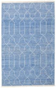 Bambu Silke Handloom Matta 160X230 Äkta Modern Handknuten Blå/Ljusblå ( Indien)