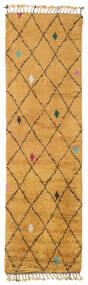 Alta - Guld Matta 80X300 Äkta Modern Handknuten Hallmatta Ljusbrun/Orange (Ull, Indien)