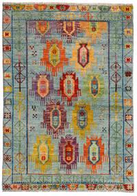 Moroccan Berber - Afghanistan Matta 124X176 Äkta Modern Handknuten Ljusgrå/Brun (Ull, Afghanistan)