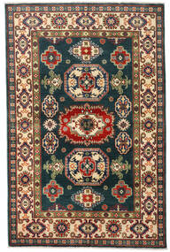Kazak Matta 120X184 Äkta Orientalisk Handknuten Mörkblå/Mörkröd (Ull, Afghanistan)