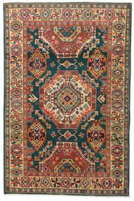 Kazak Matta 119X183 Äkta Orientalisk Handknuten Mörkgrå/Röd (Ull, Pakistan)