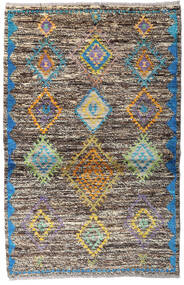 Moroccan Berber - Afghanistan Matta 93X143 Äkta Modern Handknuten Ljusgrå/Mörkgrå (Ull, Afghanistan)