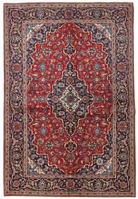 Keshan Matta 149X223 Äkta Orientalisk Handknuten Mörkröd/Mörklila (Ull, Persien/Iran)