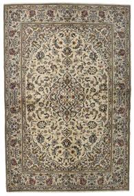 Keshan Matta 137X205 Äkta Orientalisk Handknuten Ljusgrå/Mörkgrå (Ull, Persien/Iran)