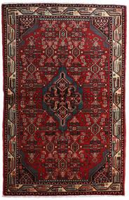 Asadabad Matta 108X169 Äkta Orientalisk Handknuten Mörkröd/Mörkbrun (Ull, Persien/Iran)