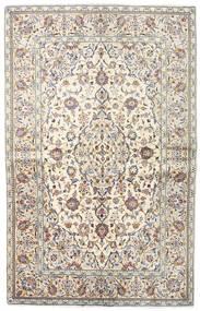 Keshan Matta 140X218 Äkta Orientalisk Handknuten Ljusgrå/Beige (Ull, Persien/Iran)