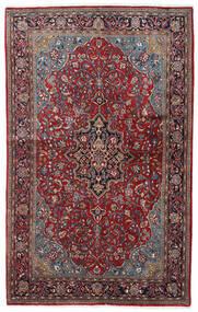 Sarough Sherkat Farsh Matta 132X211 Äkta Orientalisk Handknuten Mörkbrun/Mörkröd (Ull, Persien/Iran)