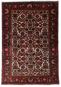 Hamadan Matta 98X147 Äkta Orientalisk Handknuten Mörkröd/Mörkbrun (Ull, Persien/Iran)