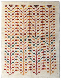 Gabbeh Persisk Matta 151X198 Äkta Modern Handknuten Beige/Ljusgrå (Ull, Persien/Iran)