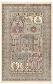 Ilam Sherkat Farsh Silke Matta 148X223 Äkta Orientalisk Handknuten Ljusgrå/Beige (Ull/Silke, Persien/Iran)