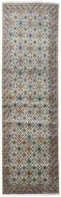 Keshan Matta 98X328 Äkta Orientalisk Handknuten Hallmatta Mörkgrå/Ljusgrå (Ull, Persien/Iran)
